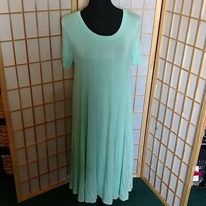 Pale Aqua Paneled Dress Iconic Luxe Size Large